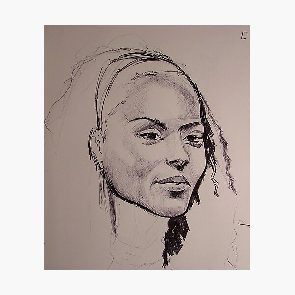 Sketch of a face Photographic Print