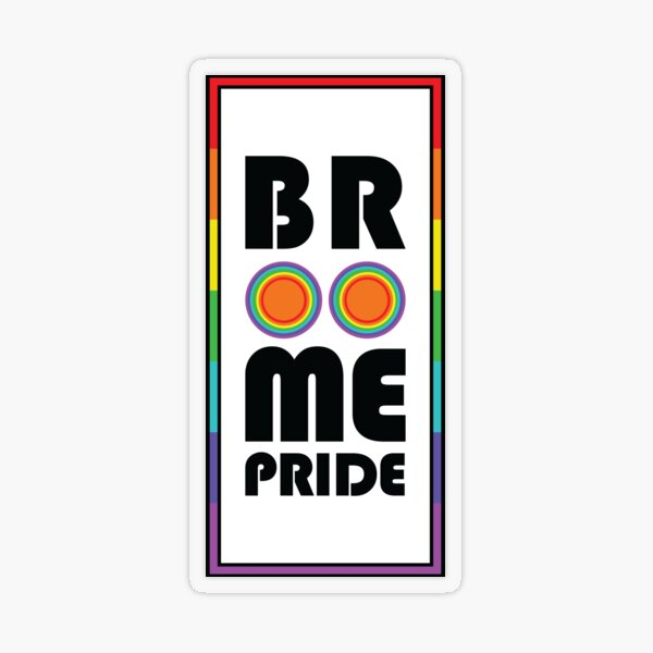Broome Pride – Rainbow rectangle Transparent Sticker
