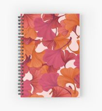 Autumn Ginkgo Leaves Spiral Notebook