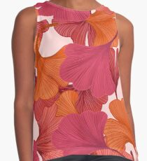 Autumn Ginkgo Leaves Sleeveless Top