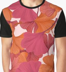 Autumn Ginkgo Leaves Graphic T-Shirt