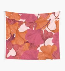 Autumn Ginkgo Leaves Wall Tapestry