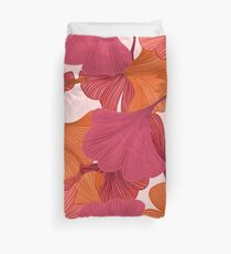 Autumn Ginkgo Leaves Duvet Cover