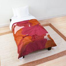 Autumn Ginkgo Leaves Comforter