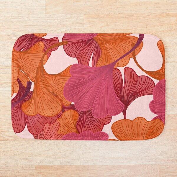 Autumn Ginkgo Leaves Bath Mat