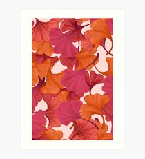 Autumn Ginkgo Leaves Art Print