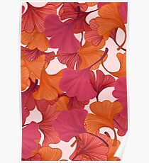 Autumn Ginkgo Leaves Poster