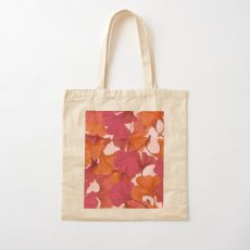 Autumn Ginkgo Leaves Cotton Tote Bag