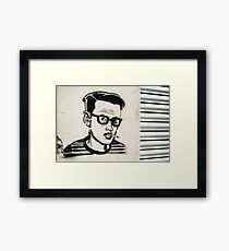 Dude on the Wall Framed Print