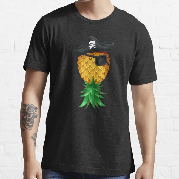 Pirate Jolly Roger Pineapple Swinger Upside Down Essential T-Shirt