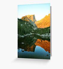 Alpenglow on Flattop Mountain Greeting Card