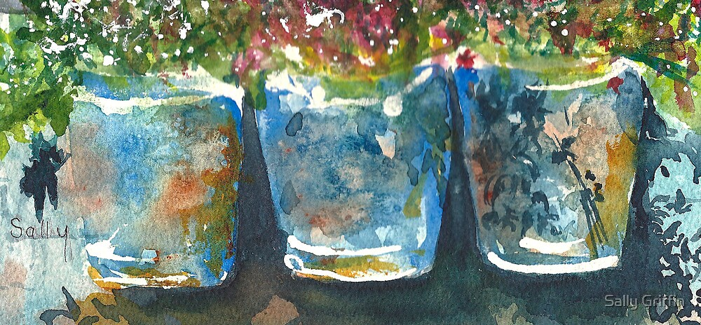 Buckets of Blooms by Sally Griffin