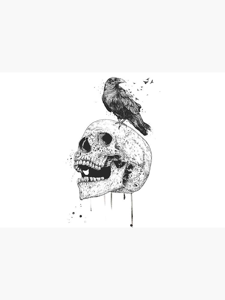 New skull (bw) by soltib