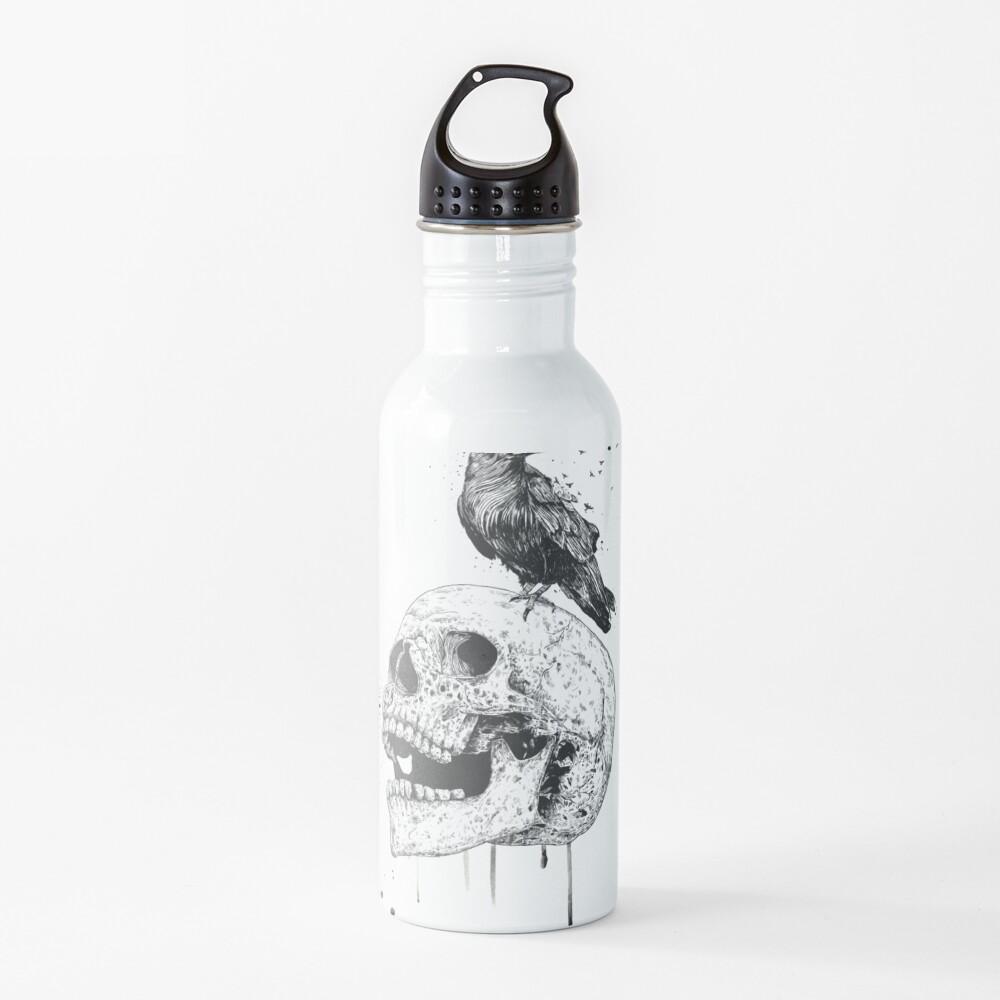 New skull (bw) Water Bottle
