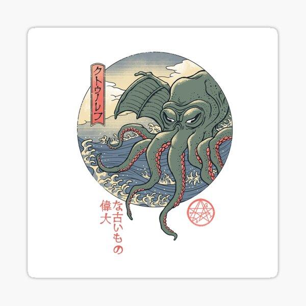 Cthulhu Ukiyo-e Sticker