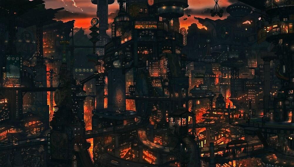 Tekkon Kinkreet - Night by quilnico