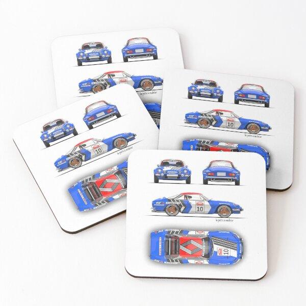 Alpine A110 Coasters (Set of 4)