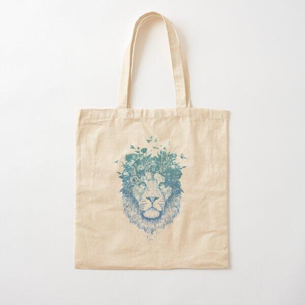 Floral lion Cotton Tote Bag