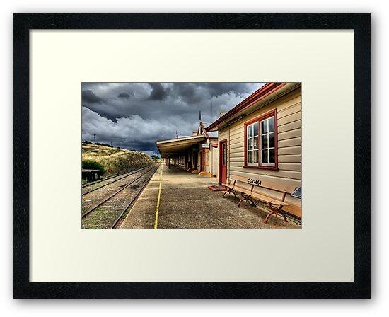 Heritage Listed Cooma Railway Station Platform Side by DavidIori