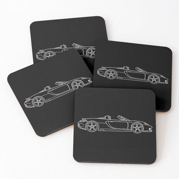 Porsche Carrera GT Coasters (Set of 4)