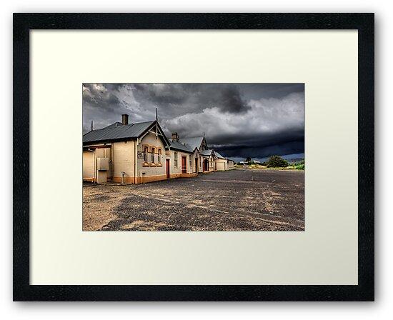 Heritage Listed Cooma Railway Station Carpark Side by DavidIori