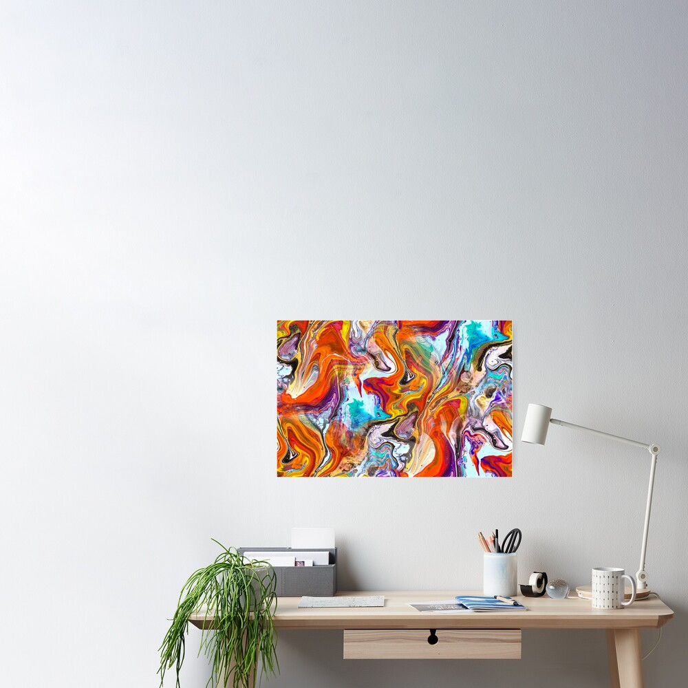 Fluid painting magic of love Poster