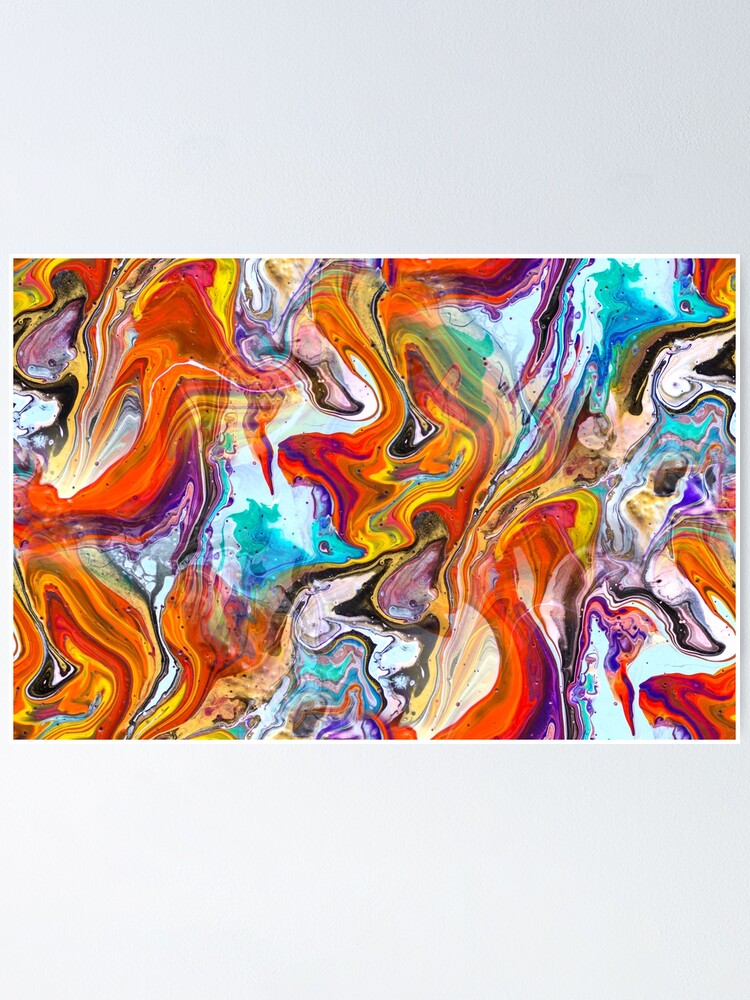 Alternate view of Fluid painting magic of love Poster