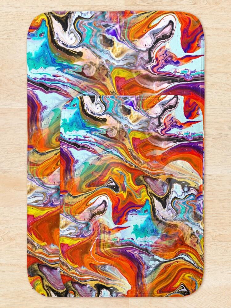 Alternate view of Fluid painting magic of love Bath Mat