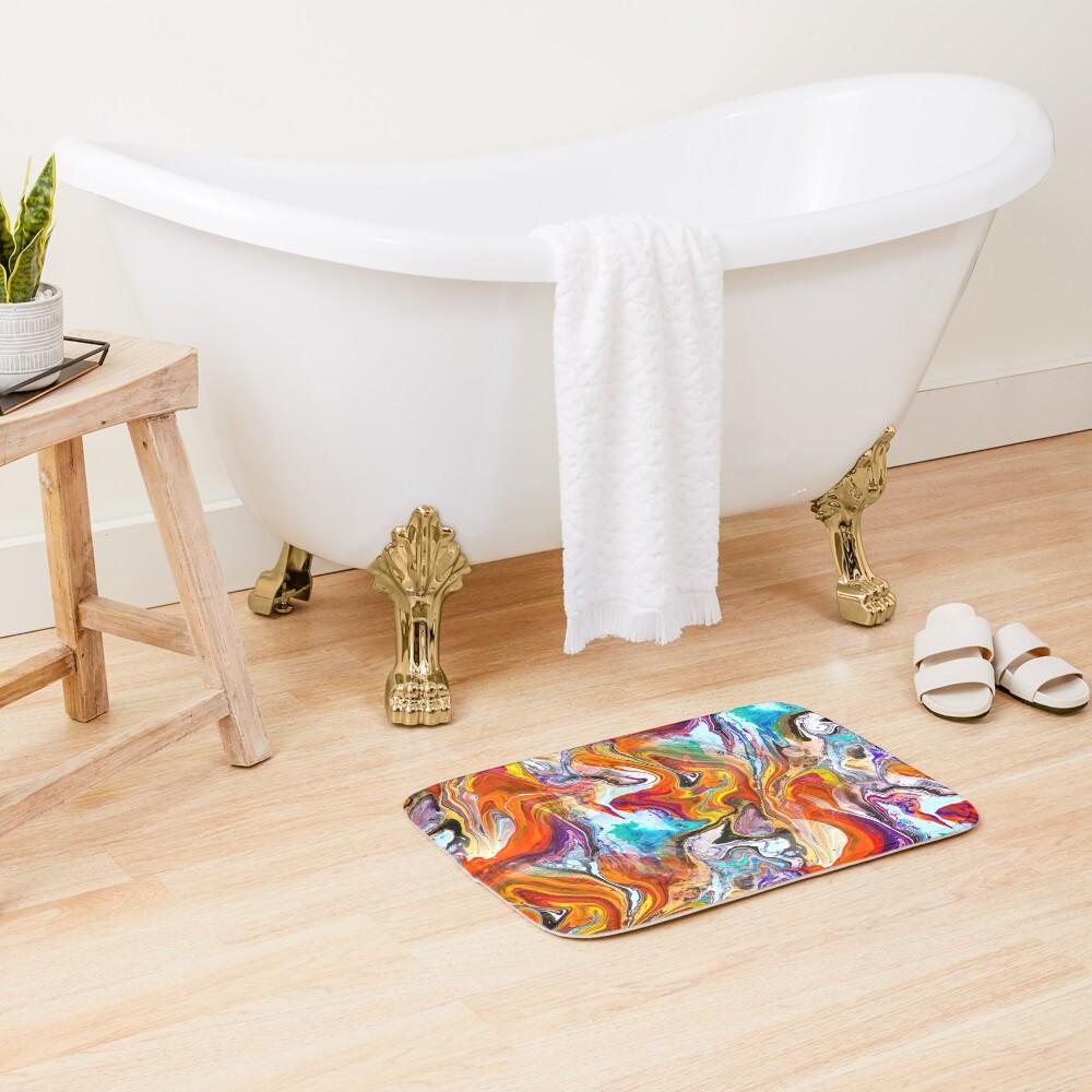 Fluid painting magic of love Bath Mat
