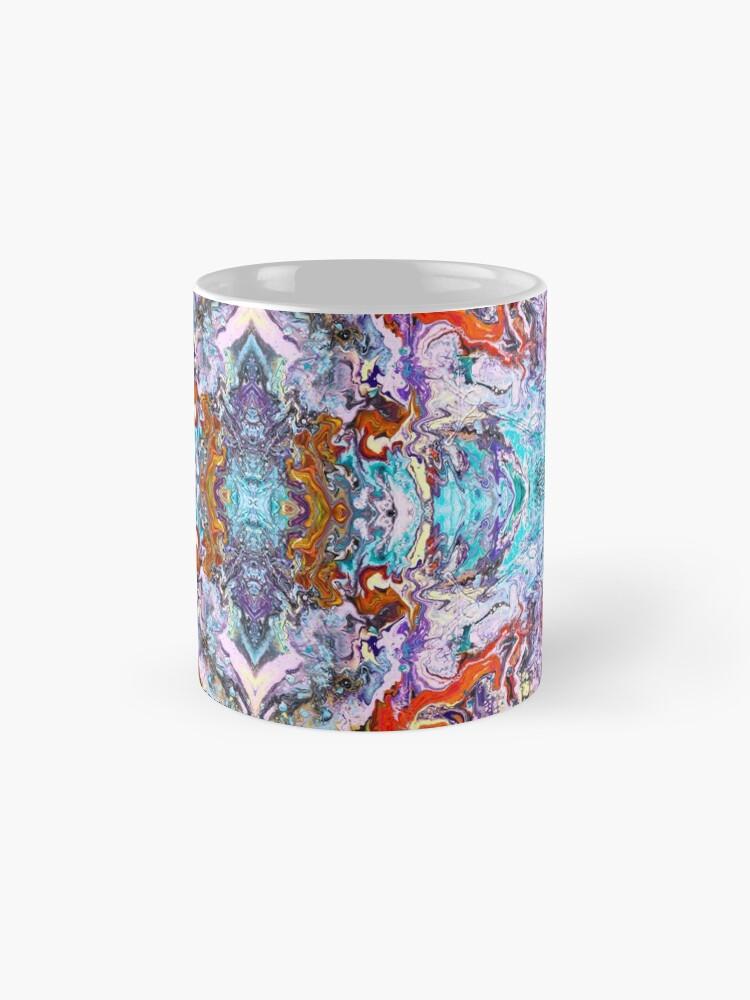 Alternate view of Fluid painting magic of love kaleidoscope Mug