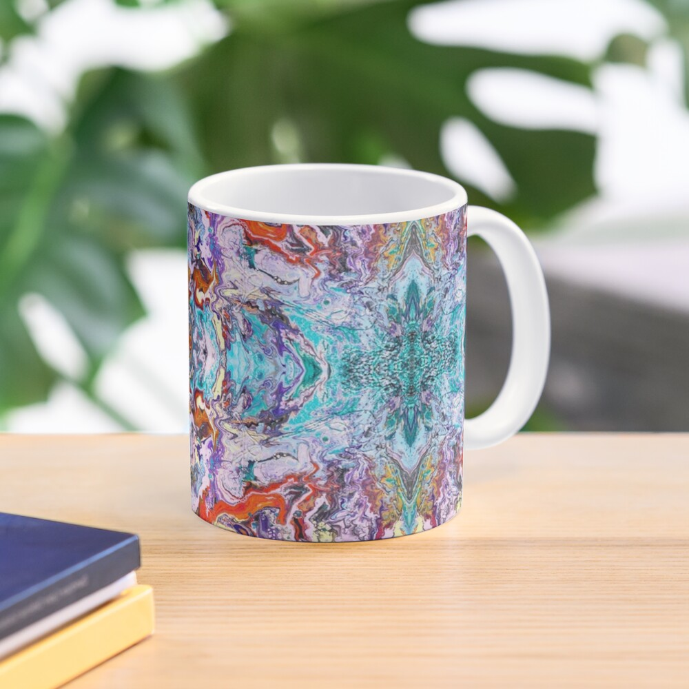 Fluid painting magic of love kaleidoscope Mug