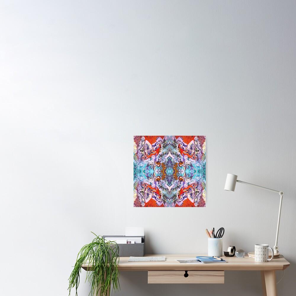 Fluid painting magic of love kaleidoscope Poster