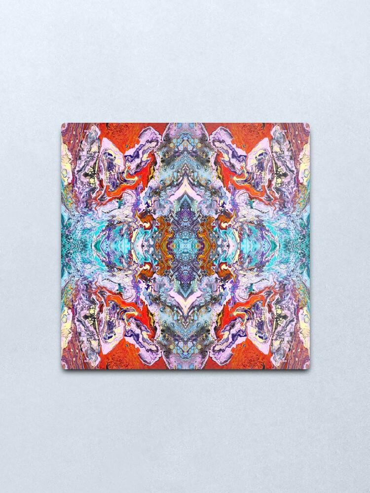 Alternate view of Fluid painting magic of love kaleidoscope Metal Print