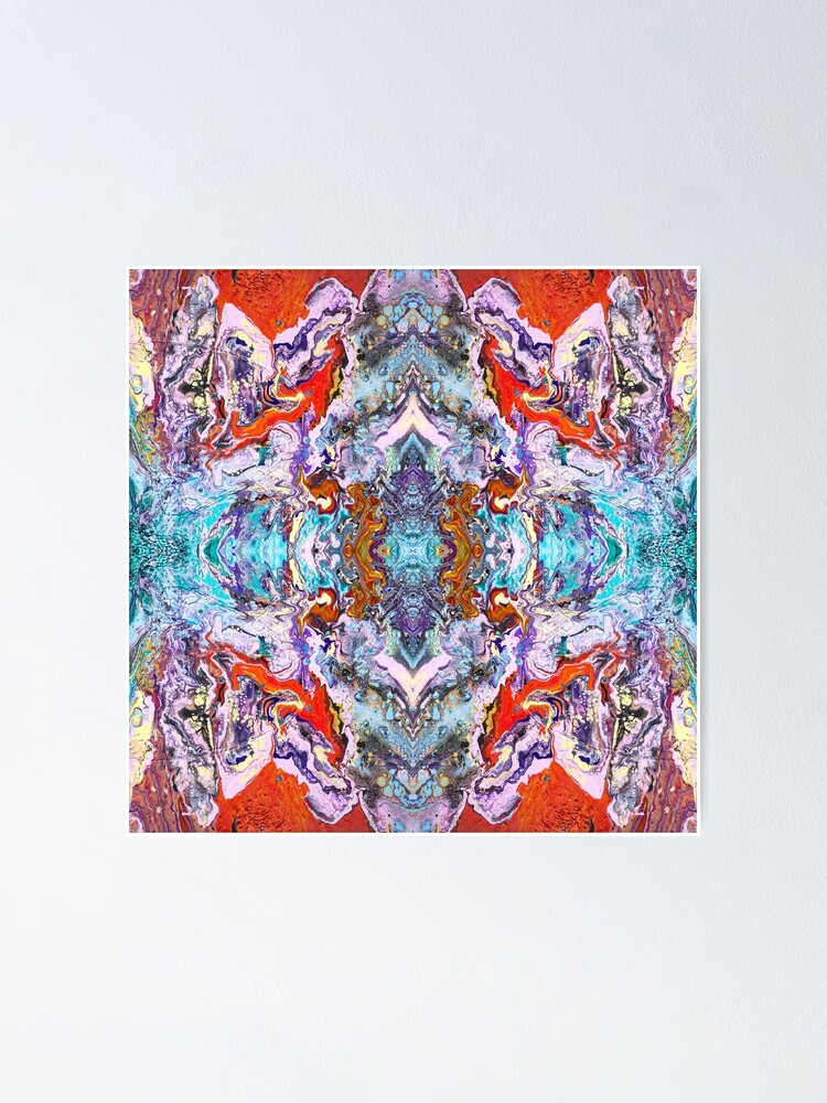 Alternate view of Fluid painting magic of love kaleidoscope Poster
