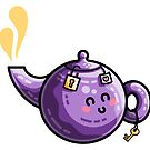 Kawaii Cute Safe-Tea Pun by Fiona Reeves