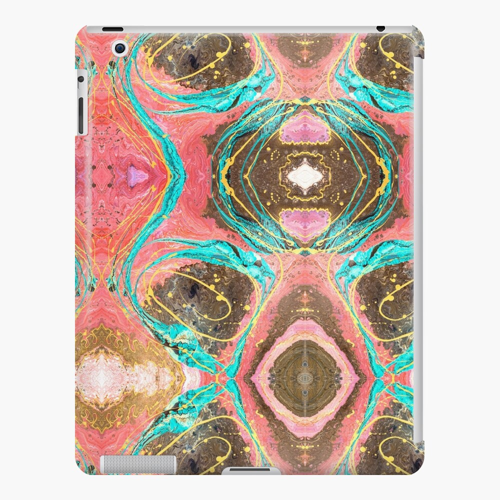 Fluid painting snake lair kaleidoscope iPad Case & Skin