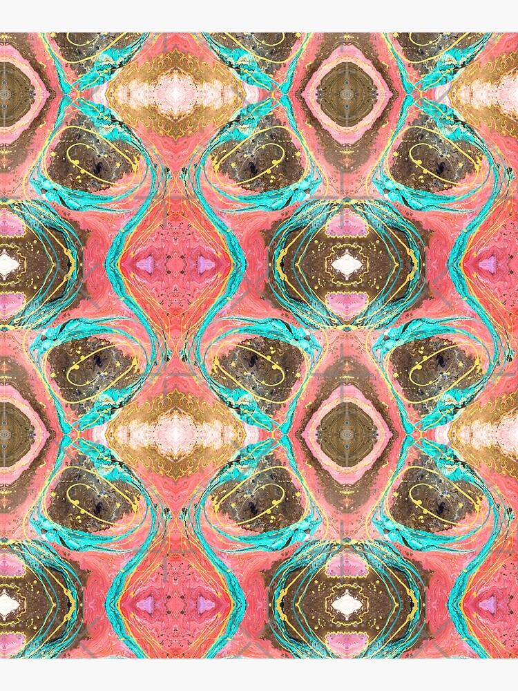 Fluid painting snake lair kaleidoscope by nobelbunt
