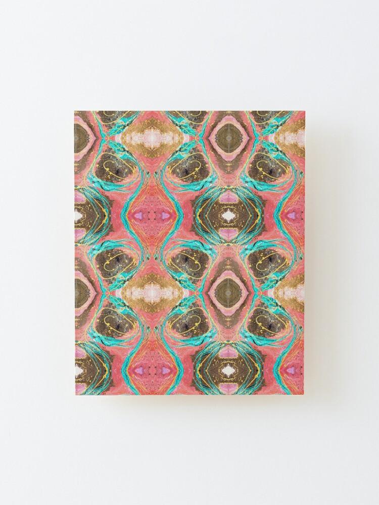 Alternate view of Fluid painting snake lair kaleidoscope Mounted Print