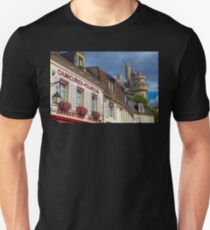 France. Pierrefonds. View with the part of Castle.. Unisex T-Shirt