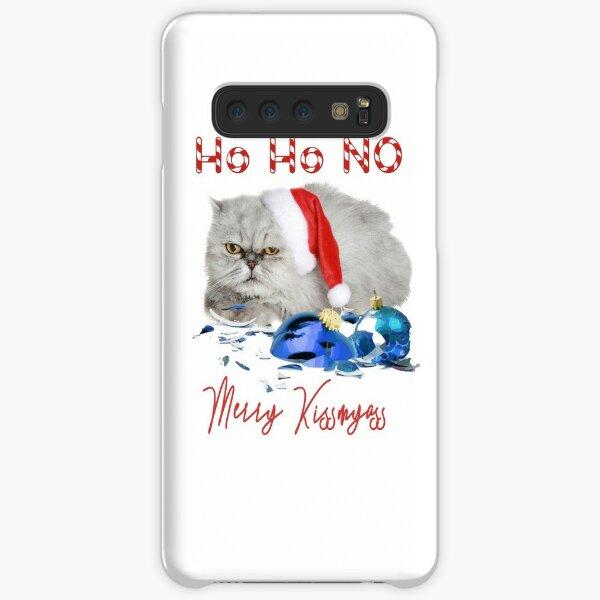 Funny Christmas Cat Merry Kissmyass Samsung Galaxy Snap Case