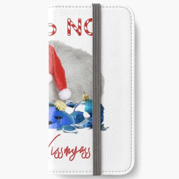 Funny Christmas Cat Merry Kissmyass iPhone Wallet