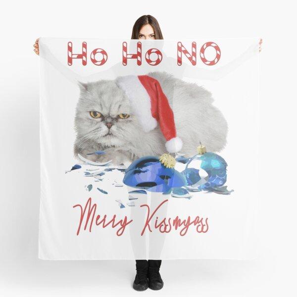 Funny Christmas Cat Merry Kissmyass Scarf