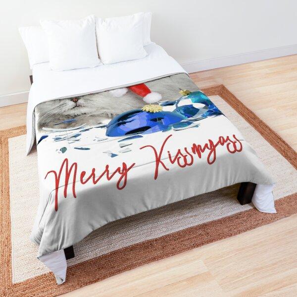 Funny Christmas Cat Merry Kissmyass Comforter