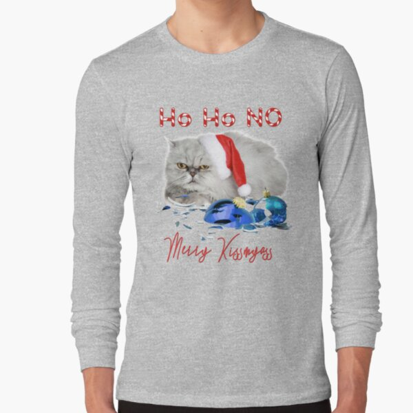 Funny Christmas Cat Merry Kissmyass Long Sleeve T-Shirt