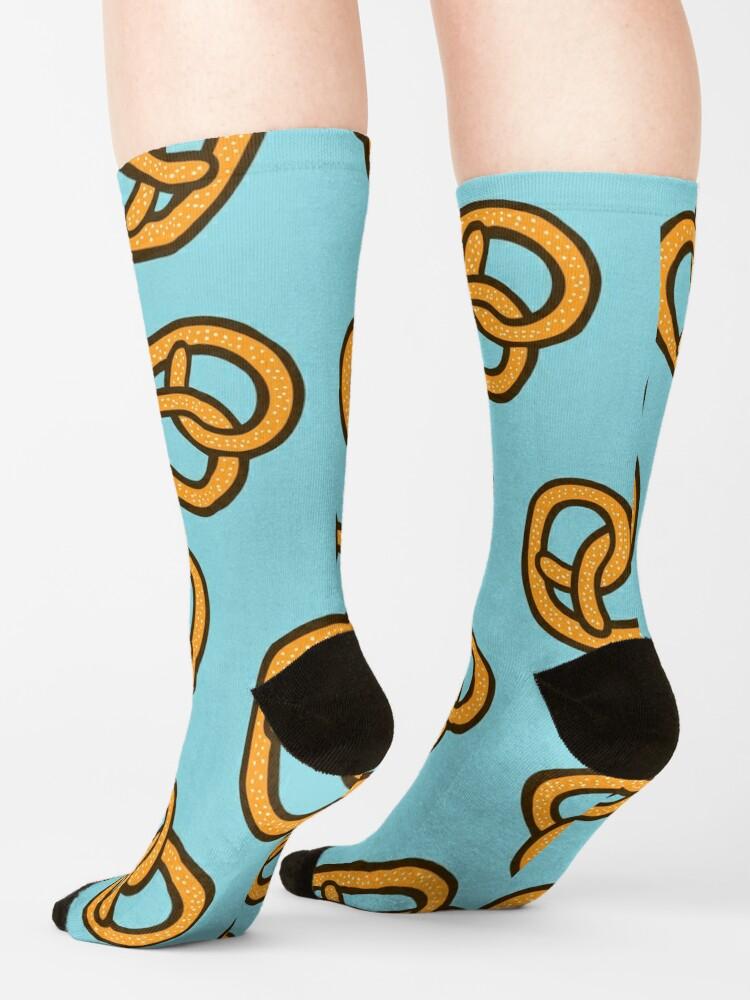 Alternate view of I Heart Pretzels Pattern Socks