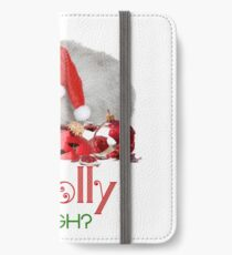 Funny Christmas Cat Jolly Enough iPhone Wallet/Case/Skin