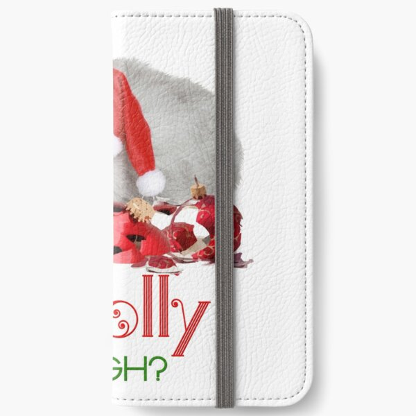 Funny Christmas Cat Jolly Enough iPhone Wallet