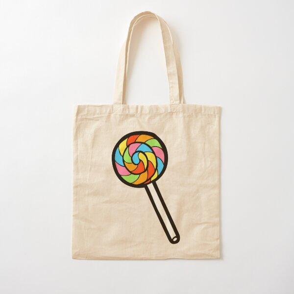 Rainbow Lollipop Pattern Cotton Tote Bag