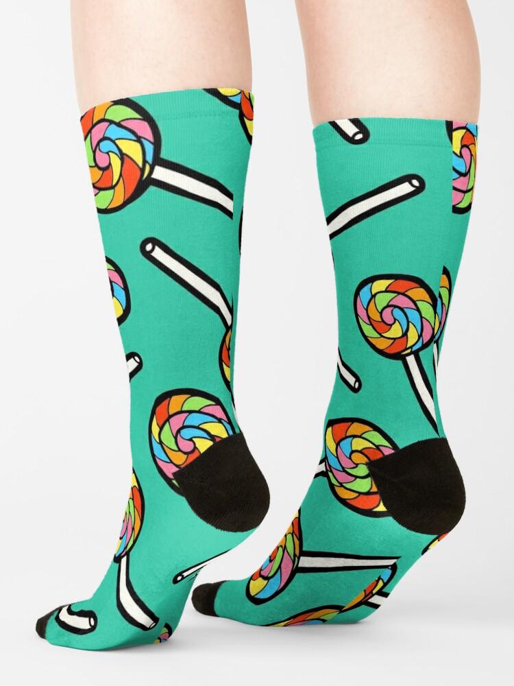 Alternate view of Rainbow Lollipop Pattern Socks
