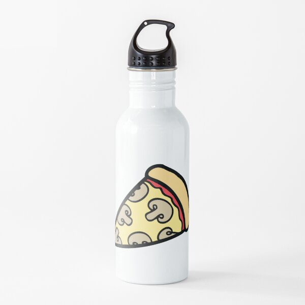Mushroom Pizza Pattern Water Bottle